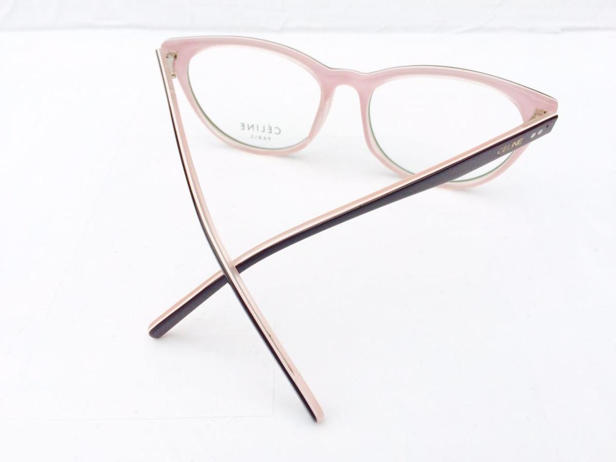 bae89600952 armação feminino celine oculos grau acetato preto e rosa. Carregando zoom.