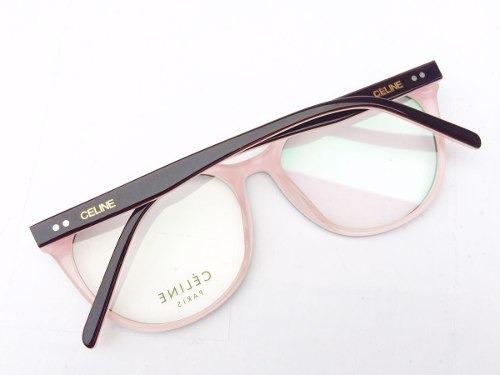 dc6427c8911 Armação Feminino Celine Oculos Grau Acetato Preto E Rosa - R  129