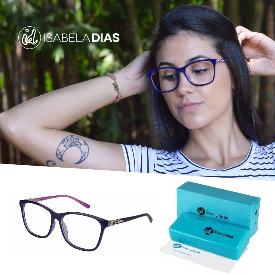 2807affab Armação Feminino Óculos De Grau Acetato Isabela Dias 6313 - R$ 79,99 ...