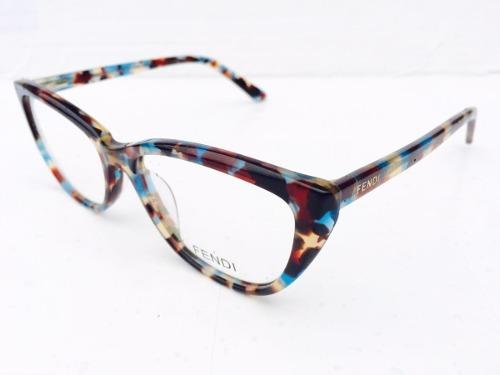 68e90b1de80c6 armação fendi marrom e azul oculos de oncinha lindo · armação fendi oculos