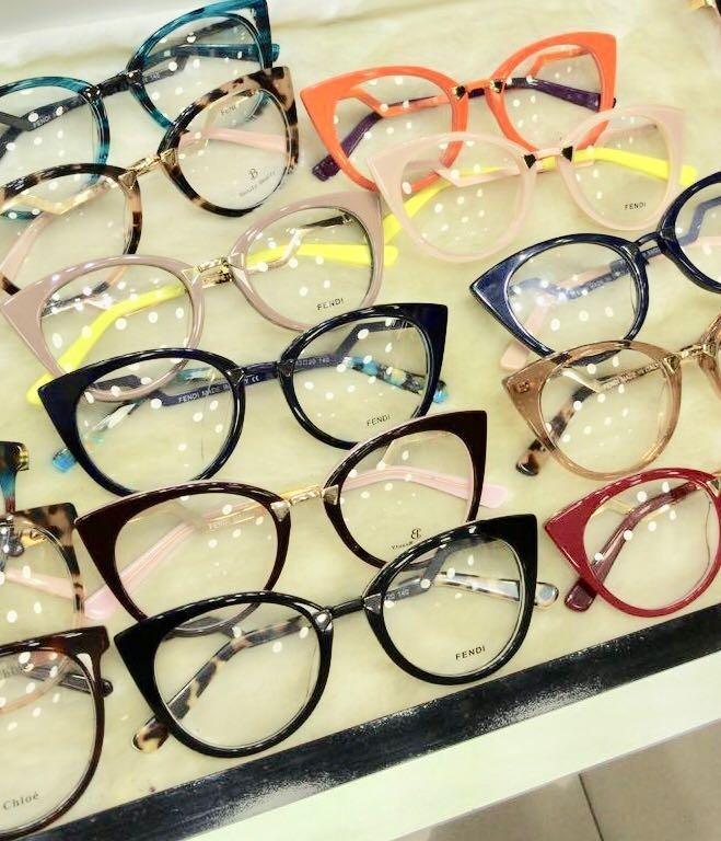 991bf6193b433 Armação Fendi Oculos Em Acetato Gatinho - Envio Imediato - R  139,90 ...