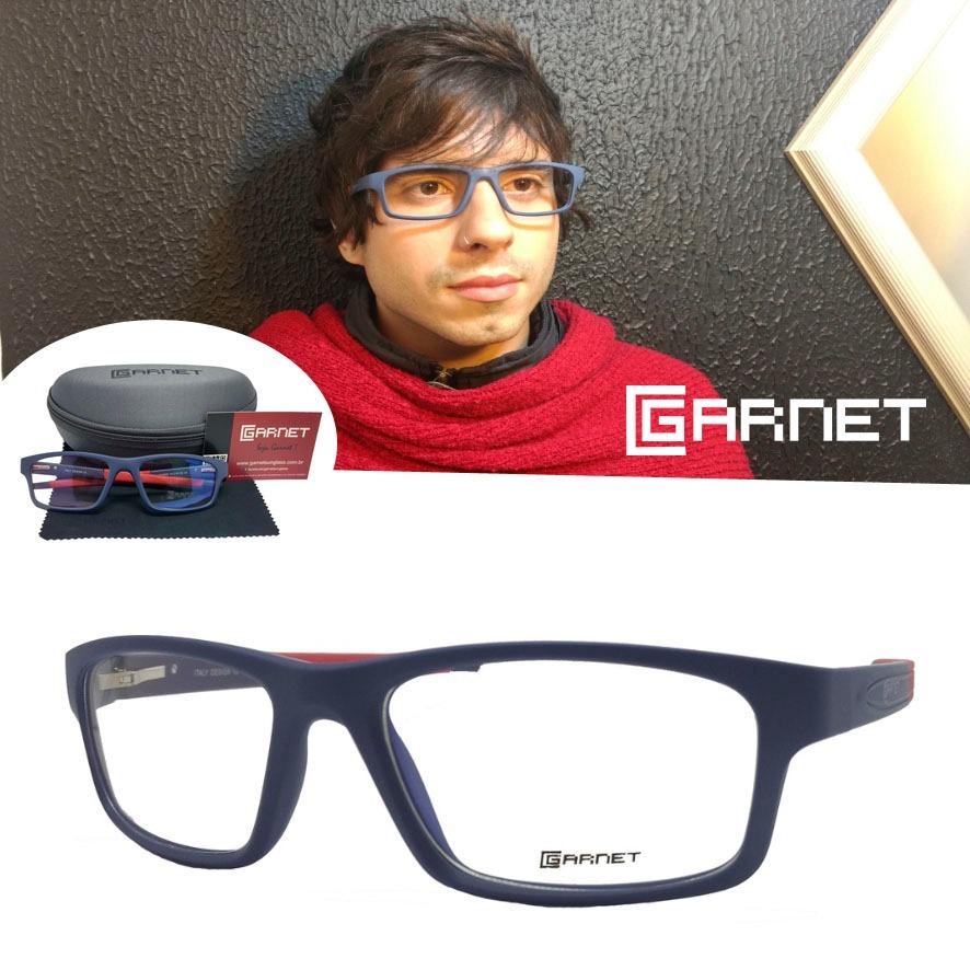 18116504b armação garnet óculos lente p/ grau sport fibra azul. Carregando zoom.
