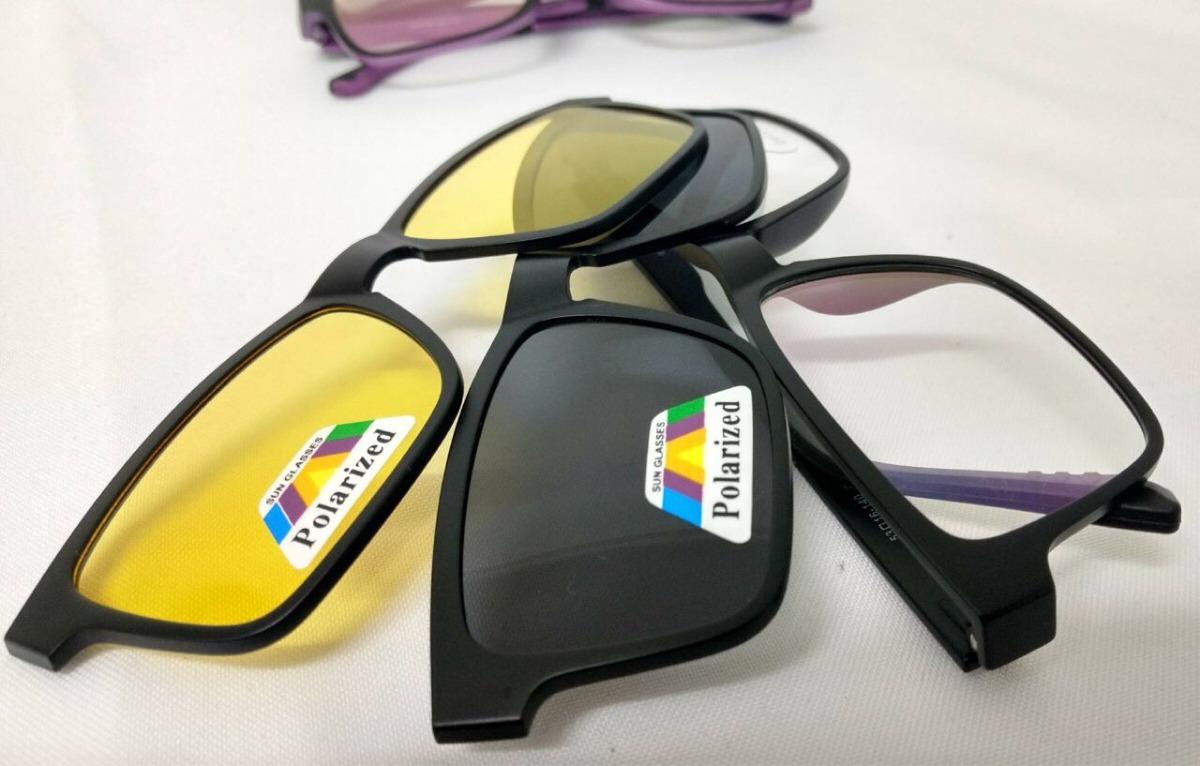 fc4c041b051d1 armação grau óculos de sol clip on polarizado frete todo bra. Carregando  zoom.