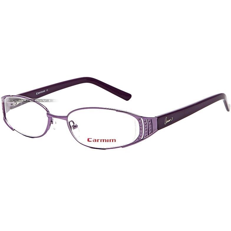 ccea6b94a4dcb Armação Grau Óculos Feminino Carmim Lilás Acetato Metal Novo - R  429,99 em  Mercado Livre