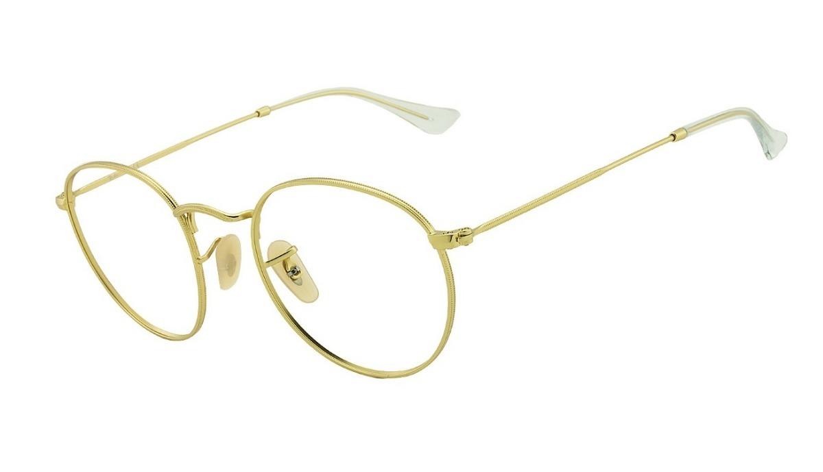 44456ec5f armação grau round redondo dourado feminino masculino luxo. Carregando zoom.