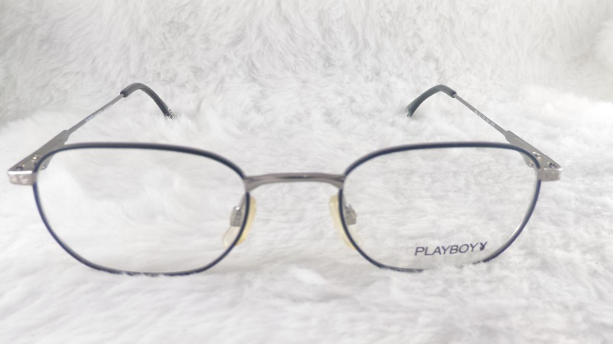 a37f9d64ee562 Armação Grau  vintage Metal  mola Hastes Playboy 554m - R  57
