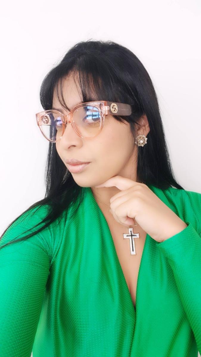 Óculos Feminino Armação Grau Gucci Gatinho Réplica Original - R  89 ... 168e9c5bac