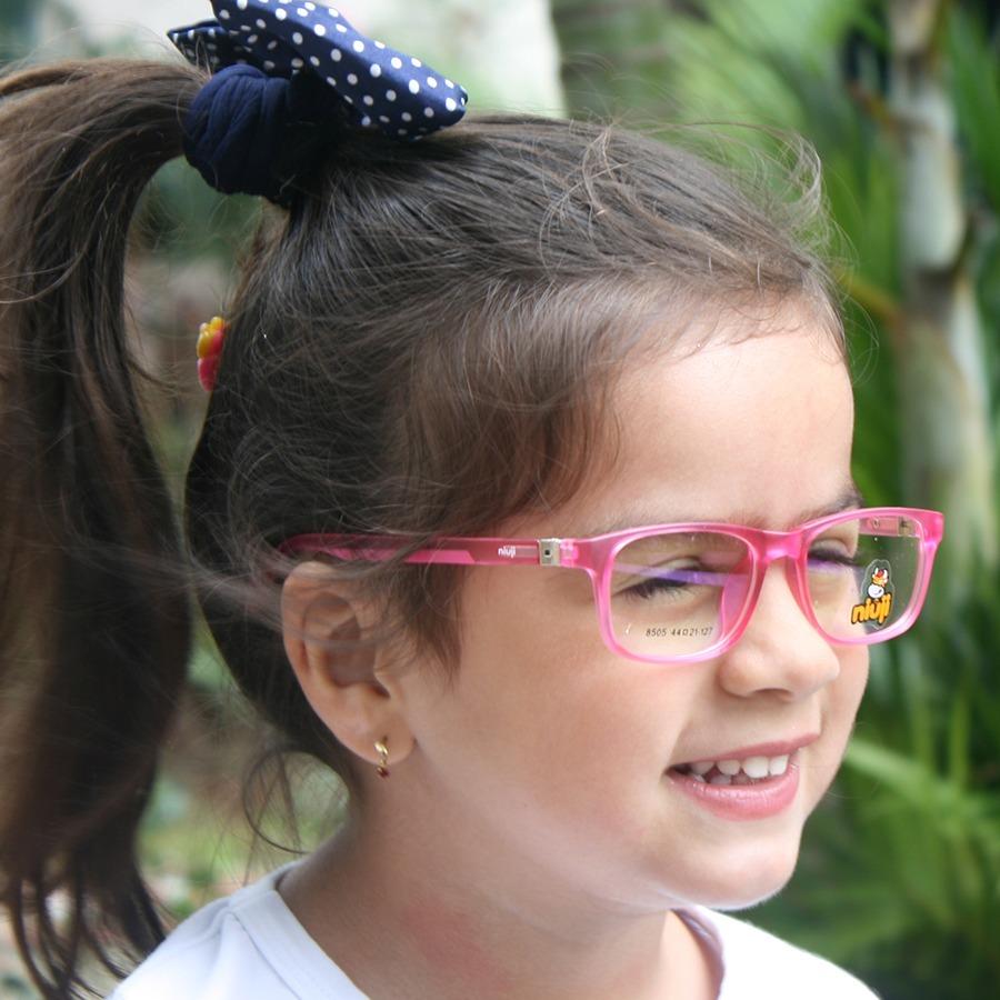 a41432ae2 armação infantil óculos grau flexível tr90 menina niuji 8505. Carregando  zoom.