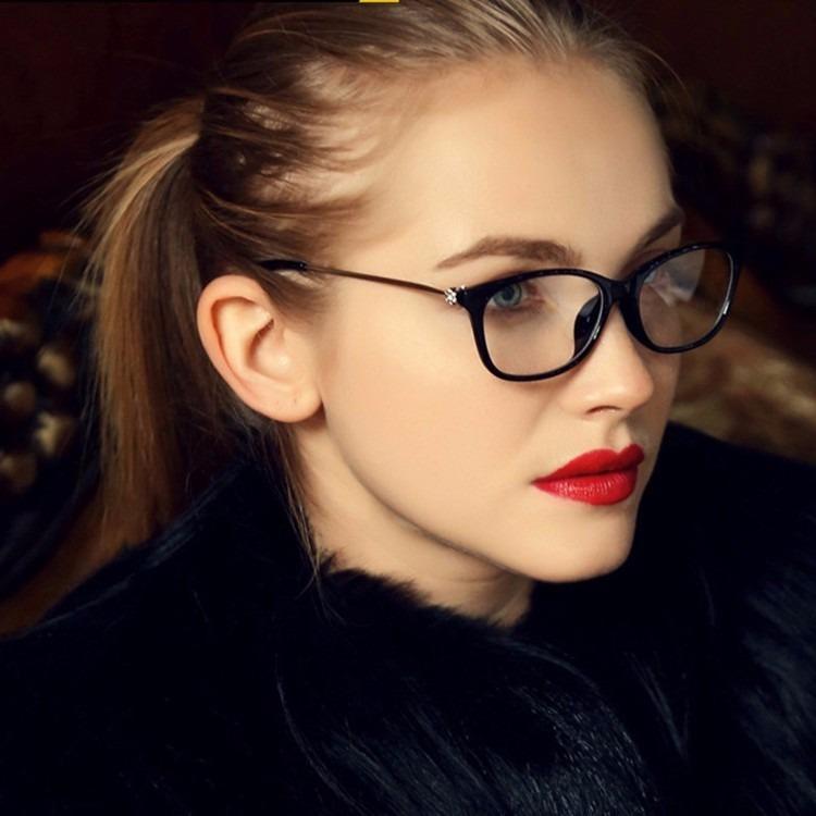 a0b09100b Armação Lentes Óculos De Grau Modelo Feminino Olho De Gato - R$ 42 ...