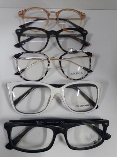 armação marcas óculos. Carregando zoom... kit com 5 unid - óculos grau  feminino armação acetato marcas f8811330fa