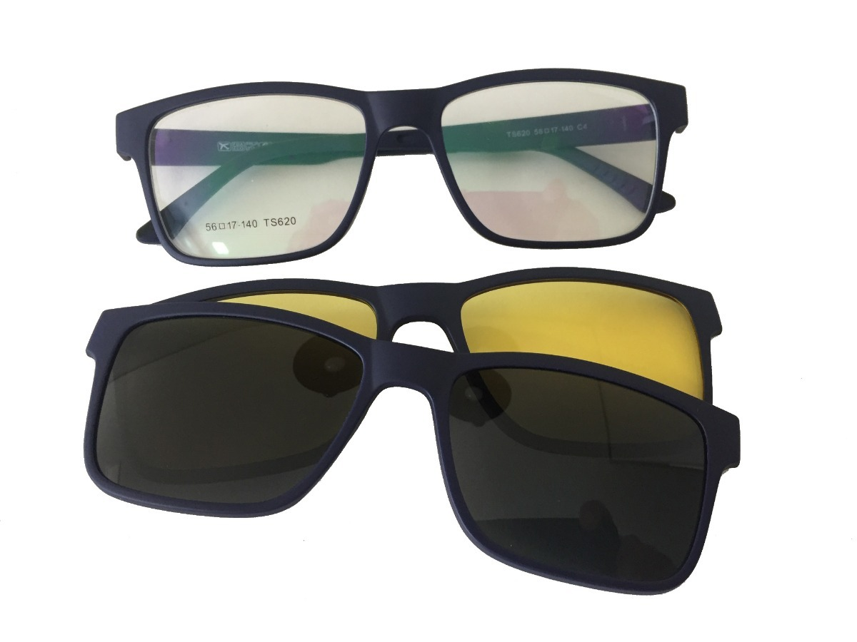 c2048a85a701c armação masculina e feminina grau clip on óculos lk040. Carregando zoom.