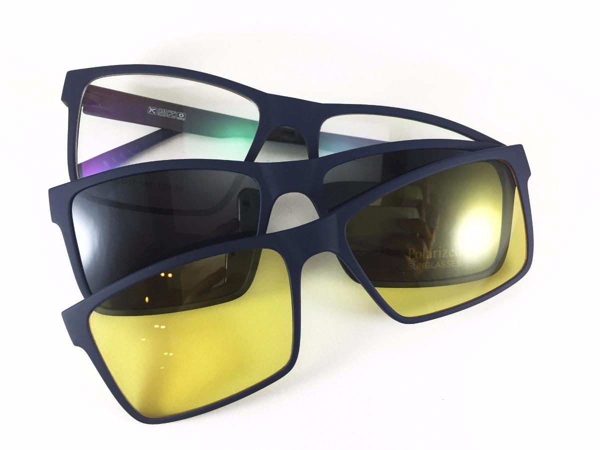 556bcb4fbf57f armação masculina e feminino grau clip on óculos sol lk040. Carregando zoom.