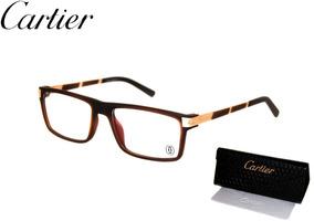 4d9ba9e69 Armação Masculina Óculos Grau Cartier Original Premium Luxo