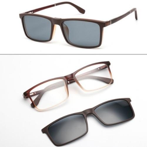 Armação Masculina Óculos Grau Clip On Tr90 135 - R  150,00 em ... cba284c974