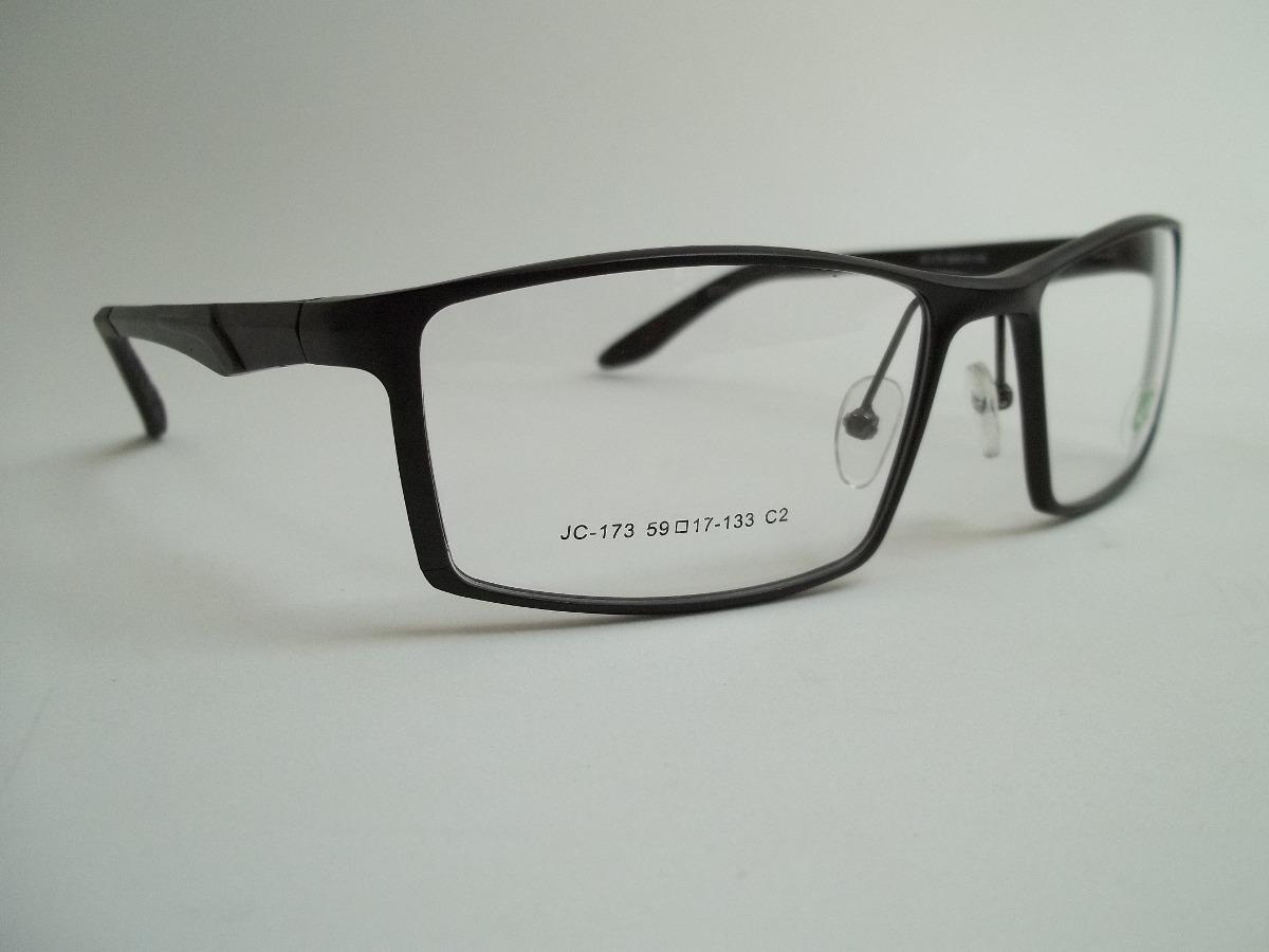 f04cd2036d60c armação masculina óculos p grau esportiva aluminío cor preta. Carregando  zoom.