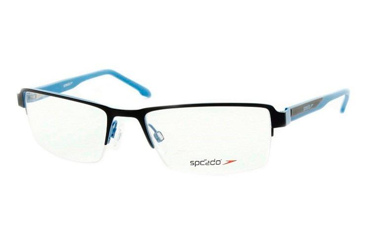 c6c74fb3c14d7 Armação Masculina Para Óculos De Grau Speedo Preto azul 1260 - R ...