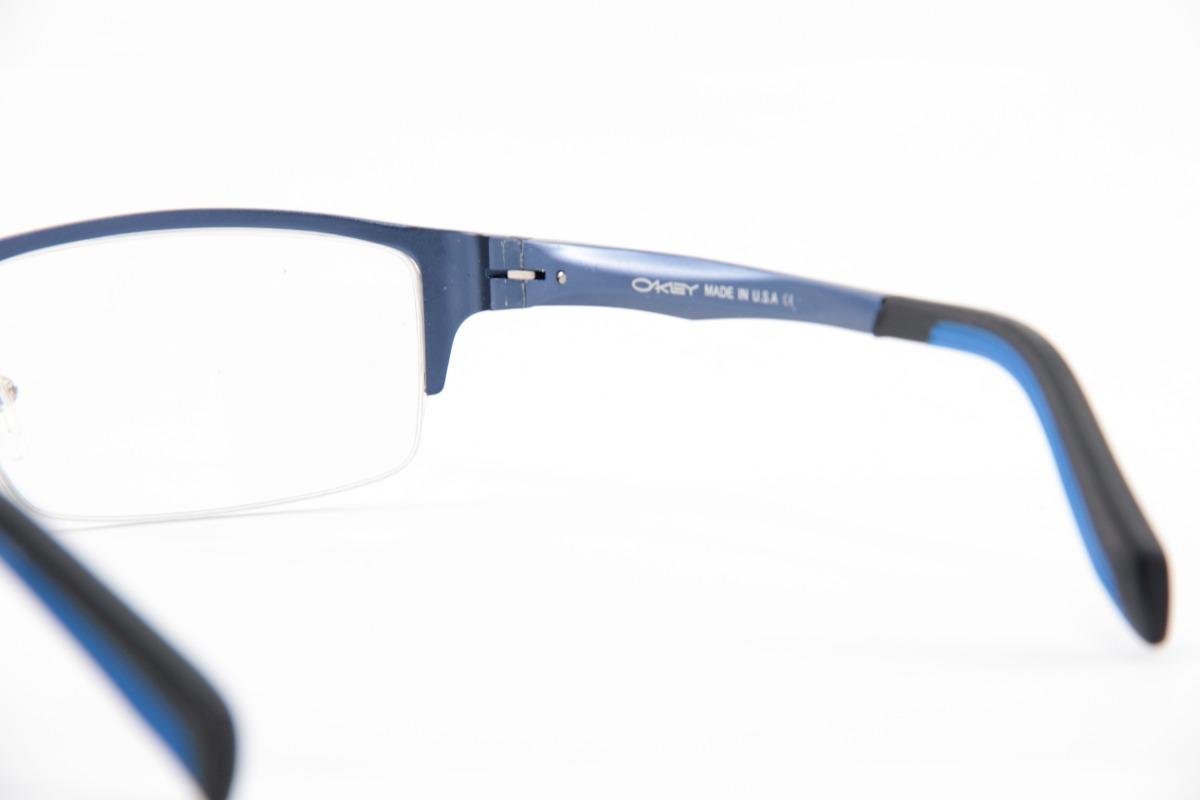 8de9e4fc2fbab Armação Para óculos De Grau Oakley Crosshair Prata C Preto
