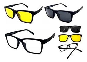 ce094d48ac Óculos De Sol Clip On Imã - Óculos com o Melhores Preços no Mercado Livre  Brasil