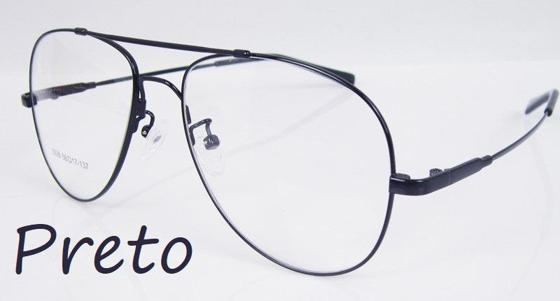 871f697d5d381 armação modelo aviador p  óculos de grau em titânio memory. Carregando zoom.