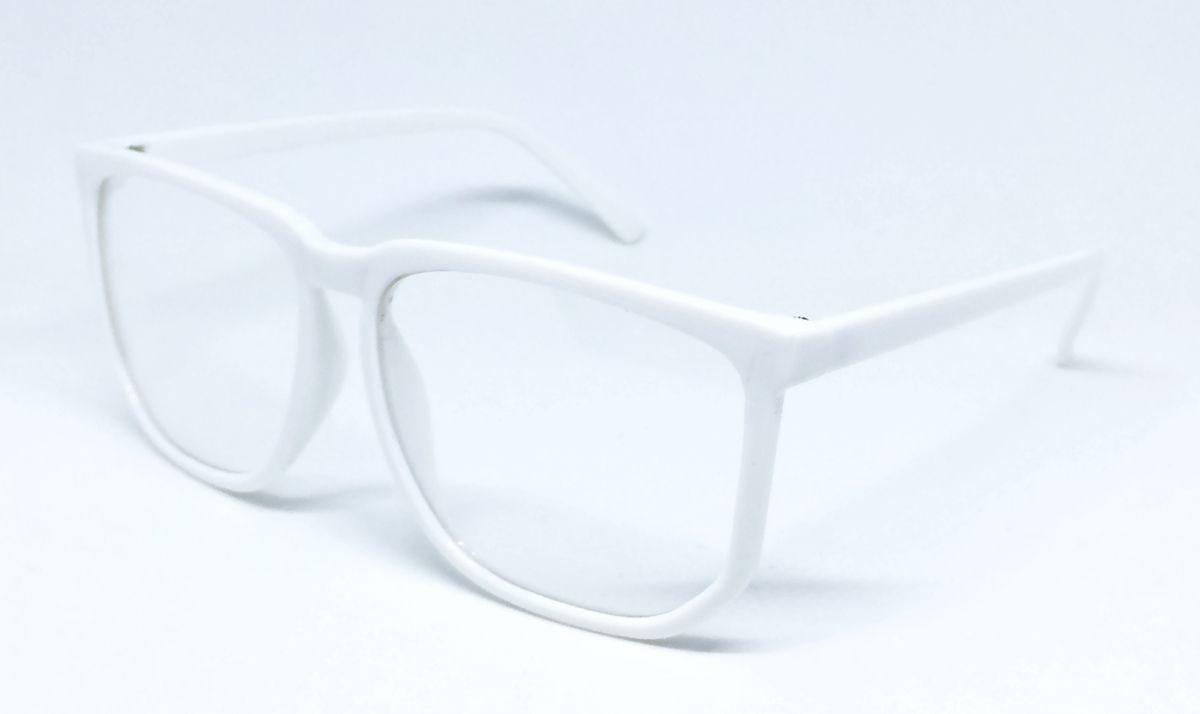 d924f56f6f80c Carregando zoom... armação nerd retrô grande para óculos de grau - branca
