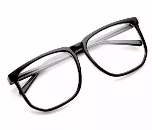 17a3ff513 Armação Nerd Retrô Grande Para Óculos De Grau - Preto Fosco - R$ 44 ...