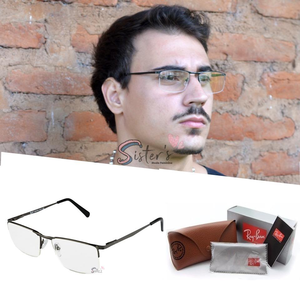 34228df89 armação óculo grau rayban fio nylon masculino feminino 1681. Carregando zoom .