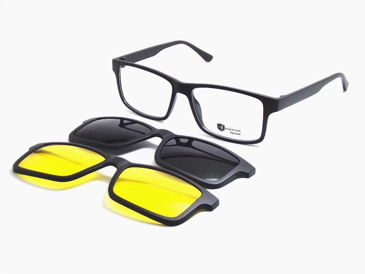 armação óculos 3 em 1 clip on sol noite preto tr90 t150 mj. Carregando zoom. 897ec7993c