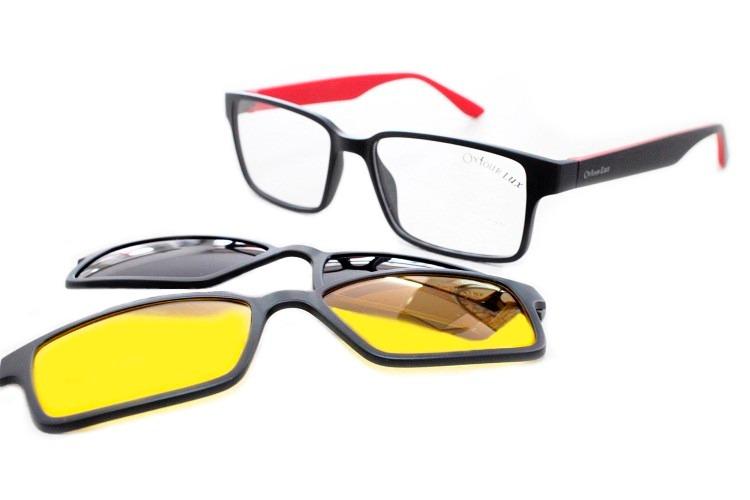 Armação Óculos Acetato Clip-on Para Grau Lançamento - R  249,90 em ... 028e30e109