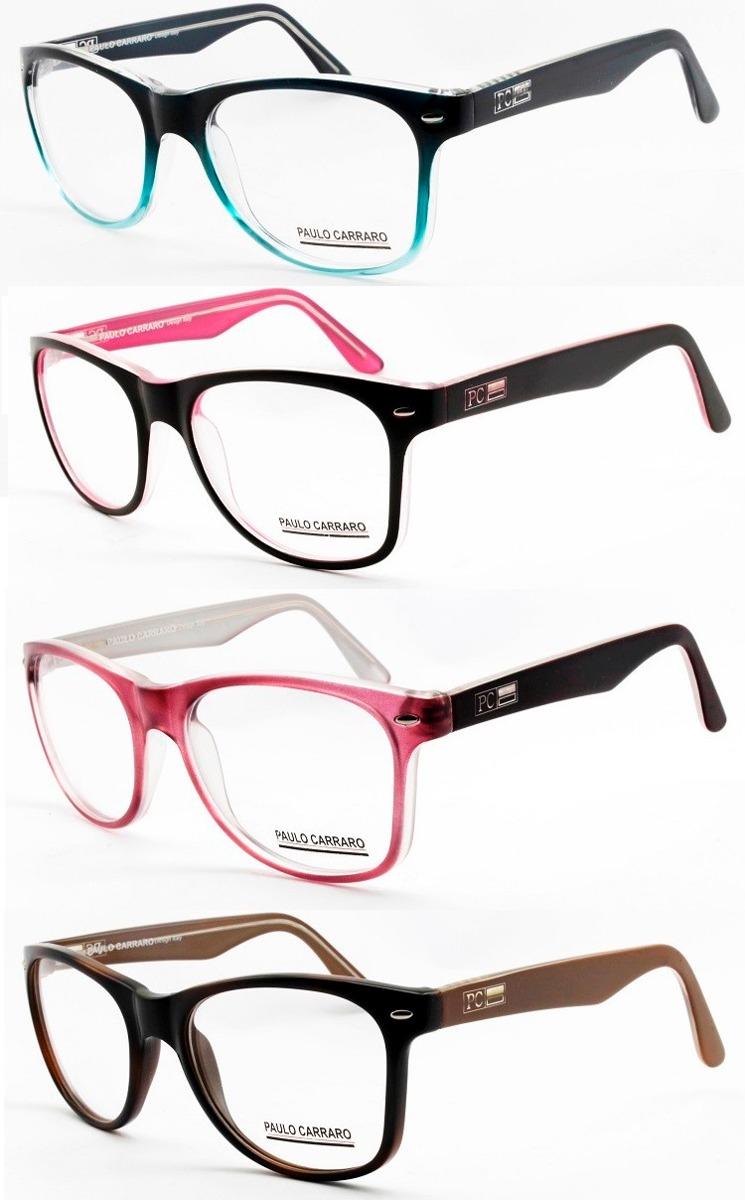 29a979aba018b Armação Óculos Acetato Para Rosto Grande - 6015 - R  129,00 em Mercado