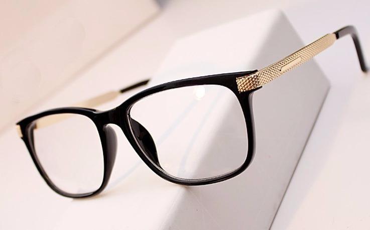 Armação Oculos Acetato Quadrado Masculino Feminino Fashion - R  60,00 em  Mercado Livre d4586e437c