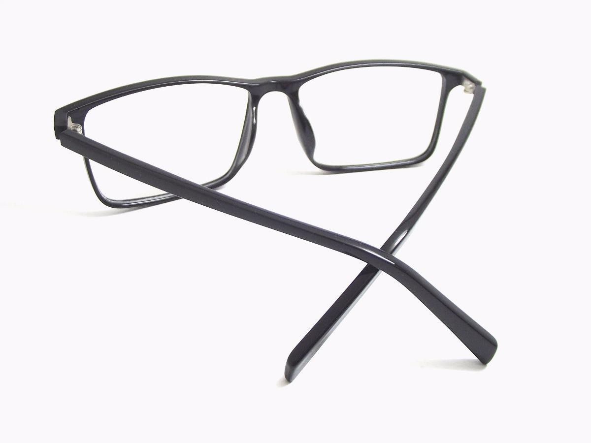 e40faabce4fec armação óculos acetato quadrado masculino preto t135 c7 mj. Carregando zoom.