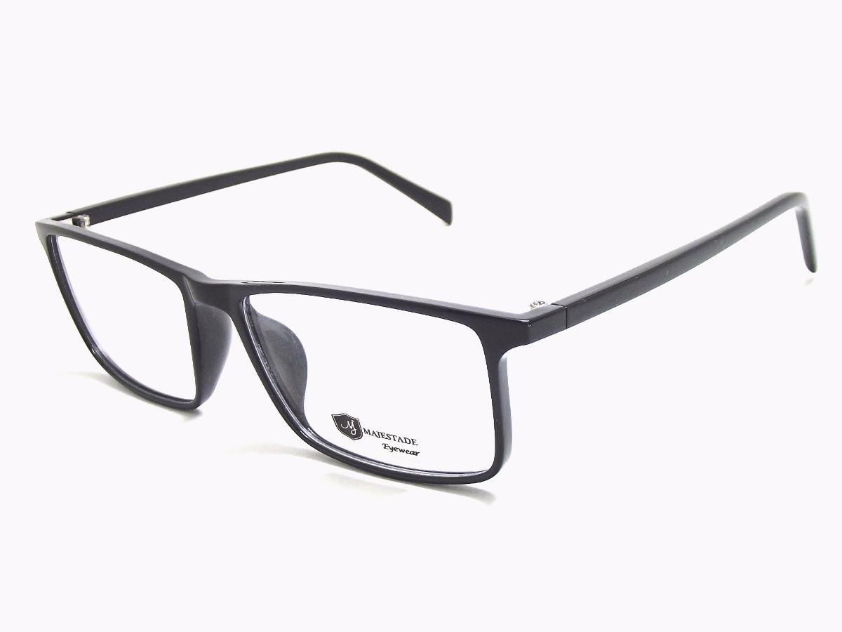 006e82b6d3f47 armação óculos acetato quadrado masculino preto t135 c7 mj. Carregando zoom.