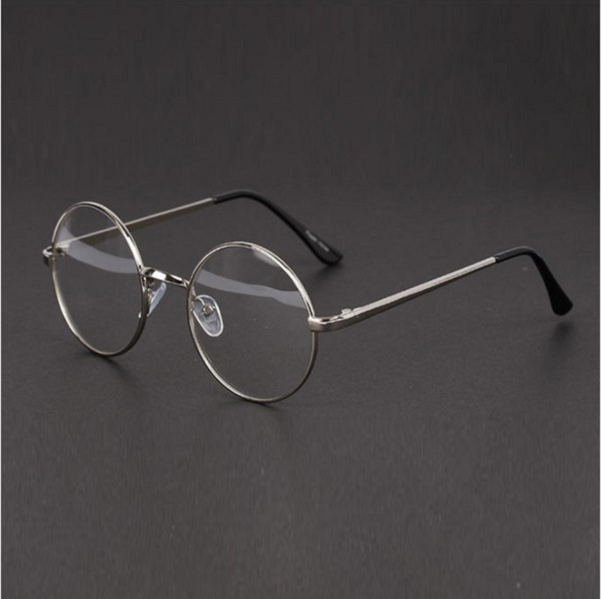 Armação Óculos Grau Redondo Lennon Harry Potter Aço Retro - R  44,99 ... 7af48b0249