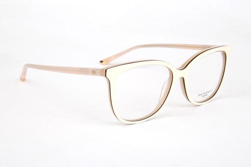 043bc5024db60 Armação Oculos Grau Ana Hickmann Ah6274 H01 Bege - R  389