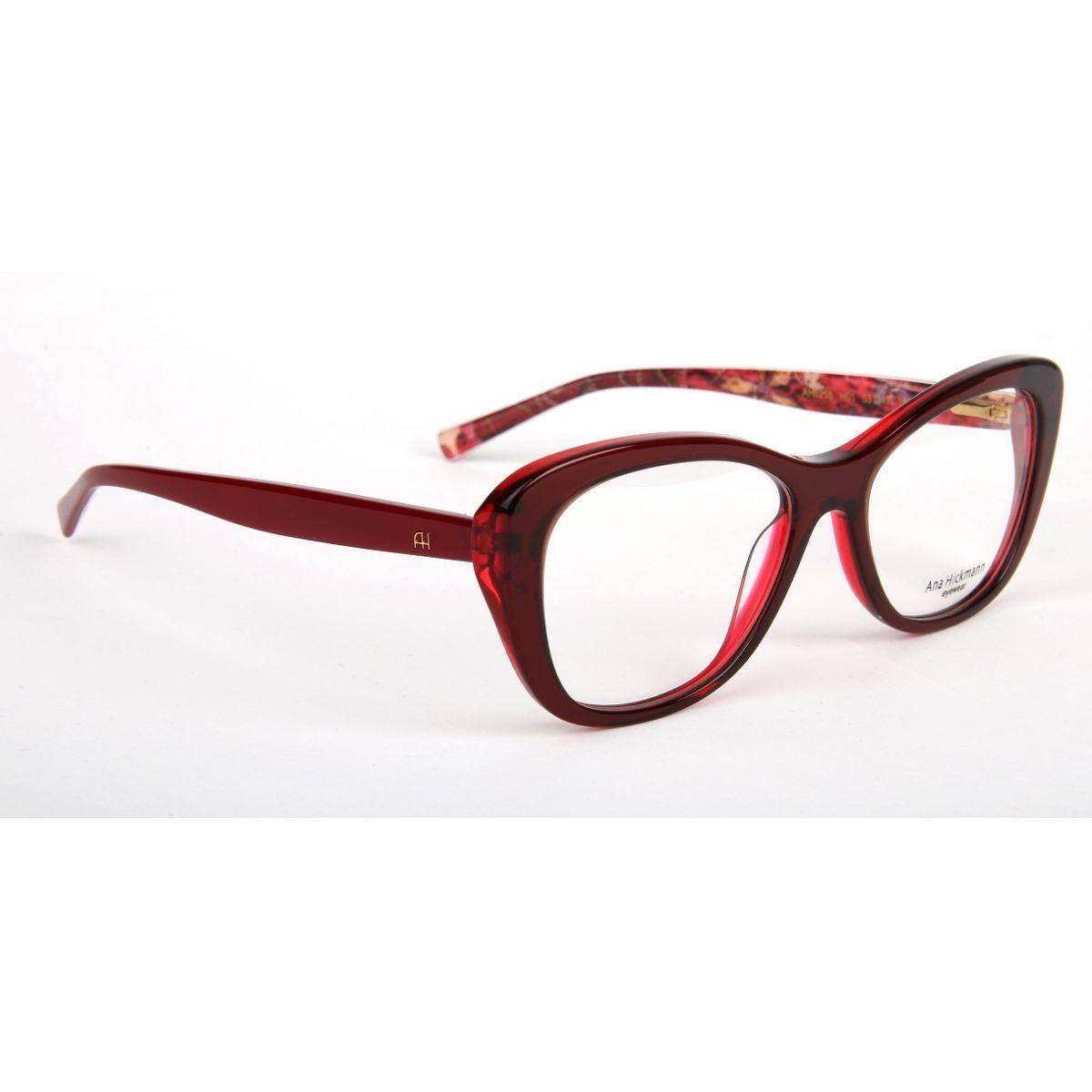 4d4173a438a29 Armação Oculos Grau Ana Hickmann Ah6258 H01 Vermelho - R  409