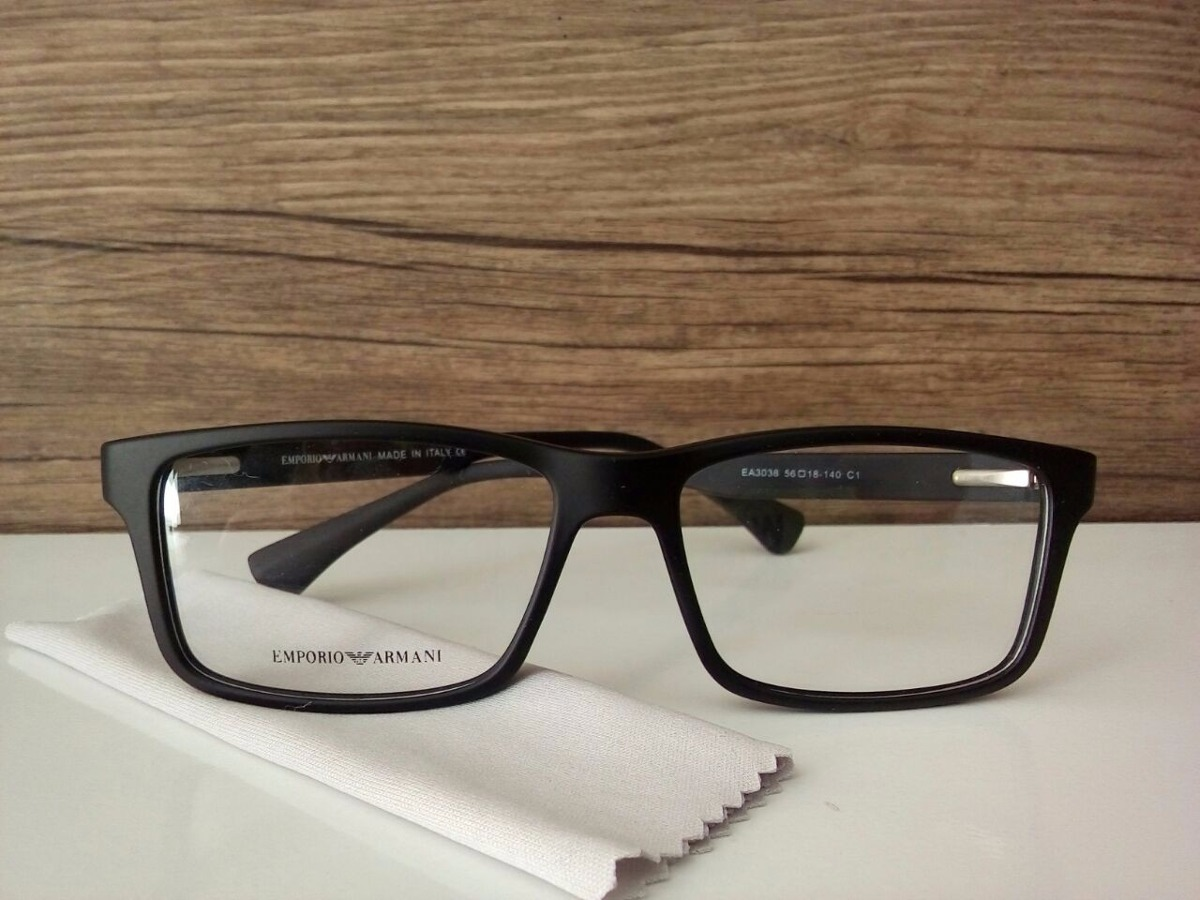 92cb7eda95895 Armação Óculos P Grau Emporio Armani Masculino Frete Gratis - R  99 ...
