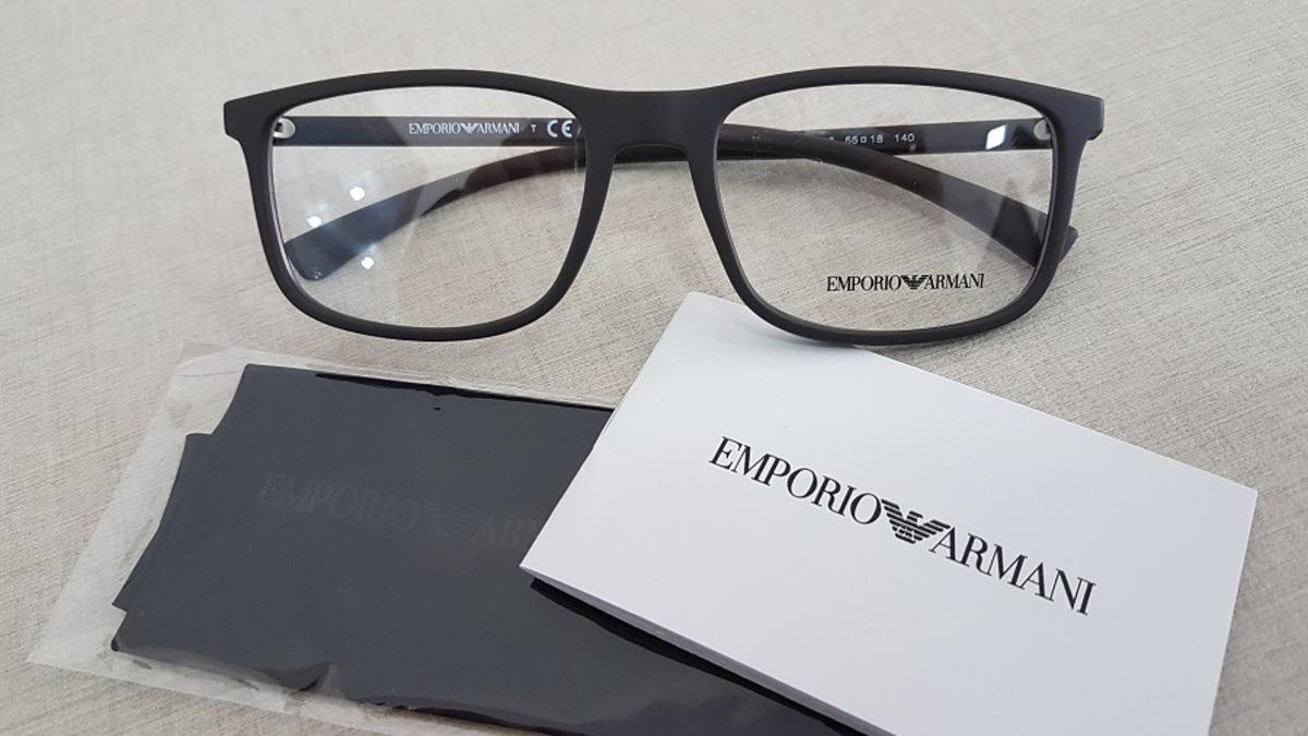 armação oculos grau emporio armani ea3069 5063 tamanho 55. Carregando  zoom... armação oculos armani. Carregando zoom. ca91c5cc85