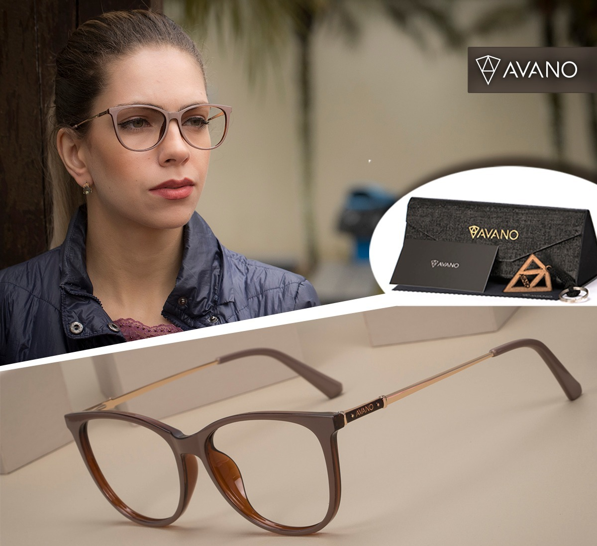 b4929e362 Armação Oculos Avano Av 228-c Feminino Com Lente Sem Grau - R$ 70,00 ...