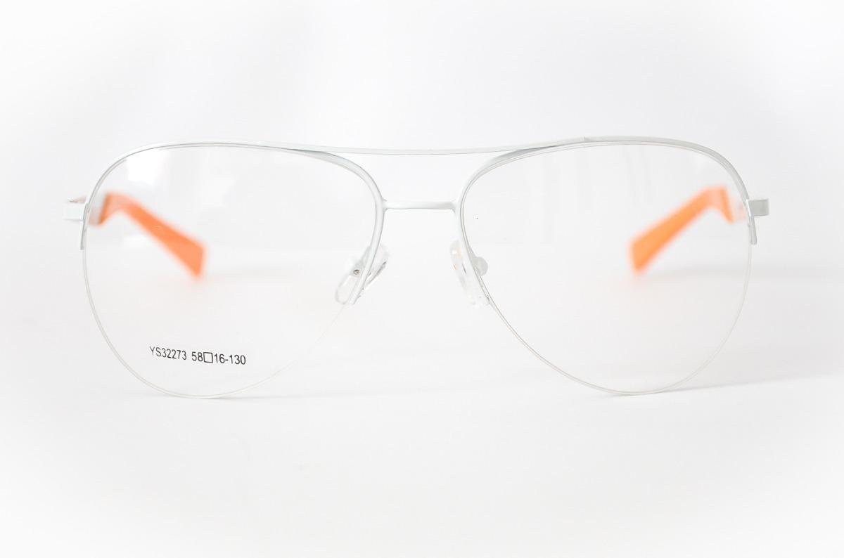 837ded0831ba5 armação oculos aviador branco e laranja grande feminino. Carregando zoom.