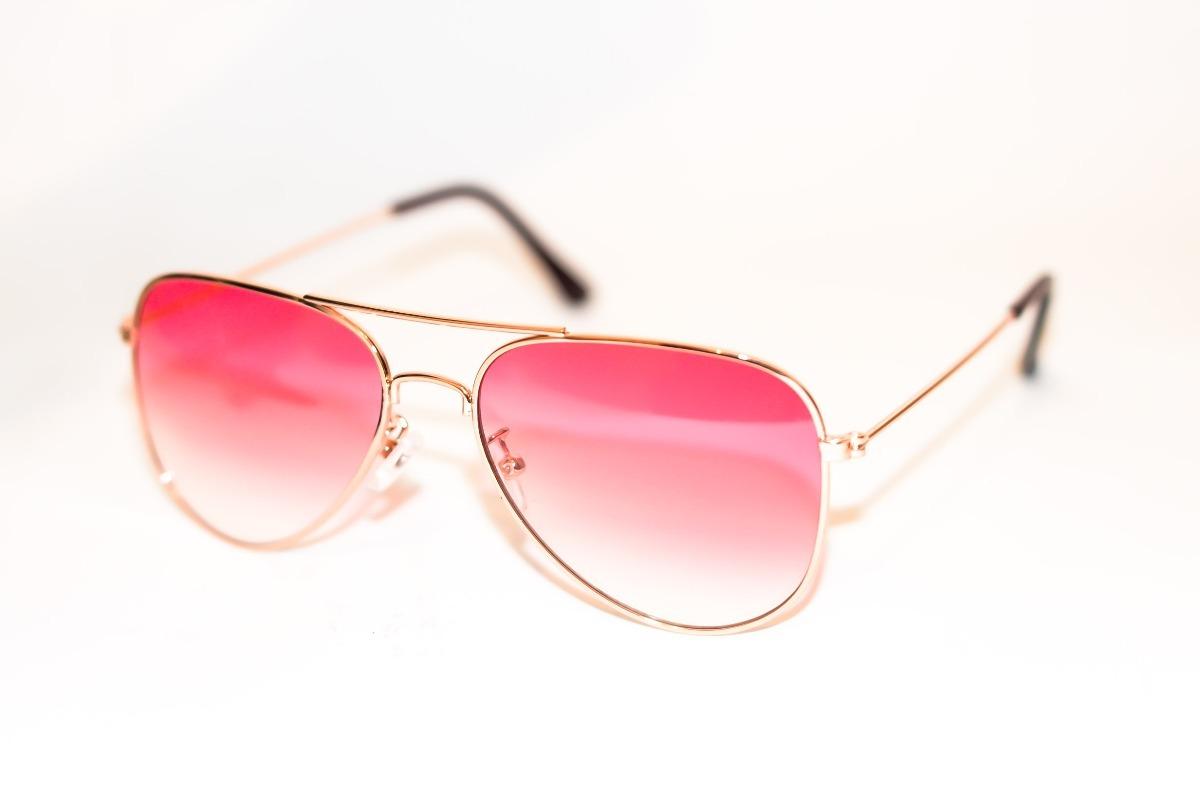 8e8b5d0314ed3 armação oculos aviador lente colorida rosa unicornio modinha. Carregando  zoom.