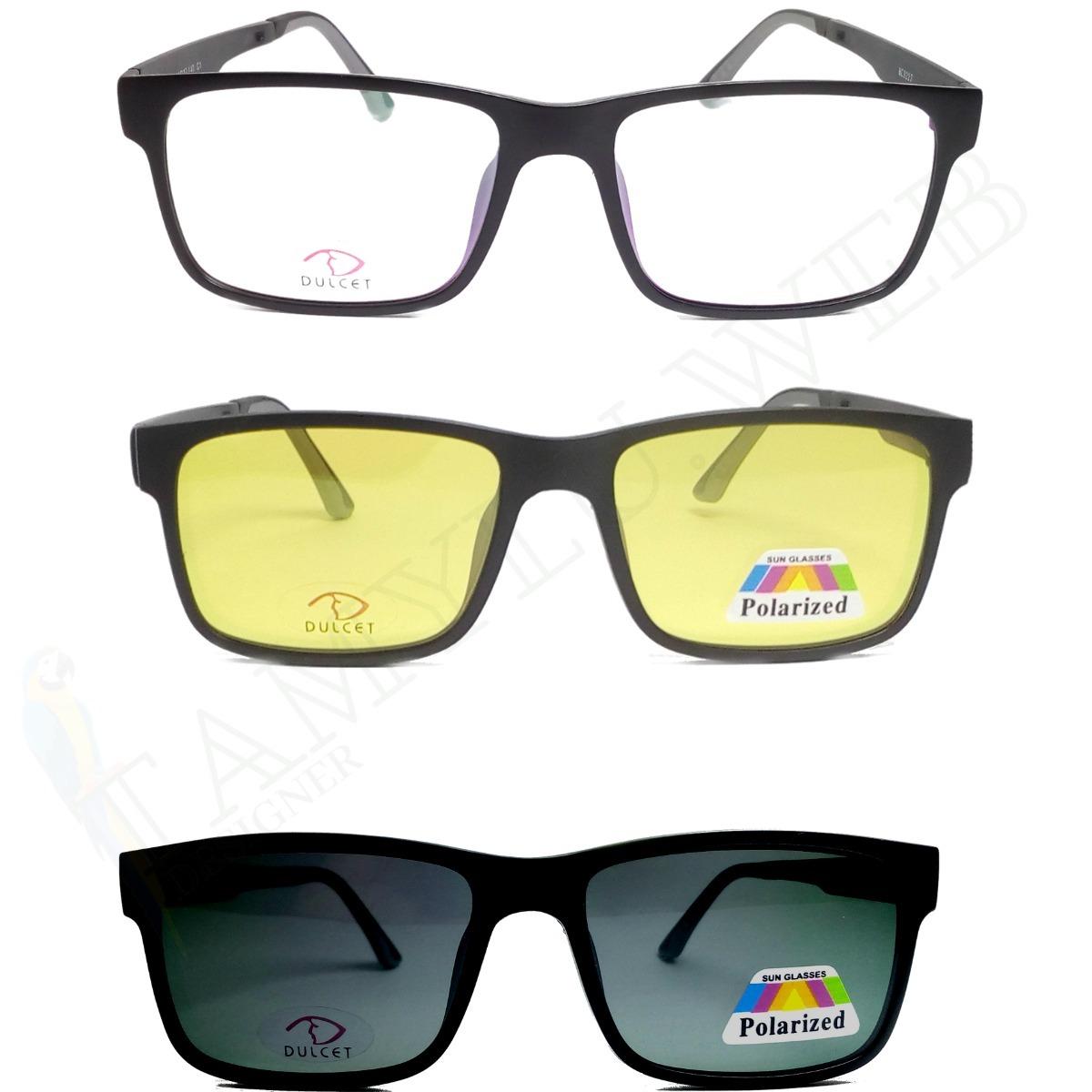 armação óculos clip on night drive solar polarizado promoção. Carregando  zoom. 8a0ffb5ac6