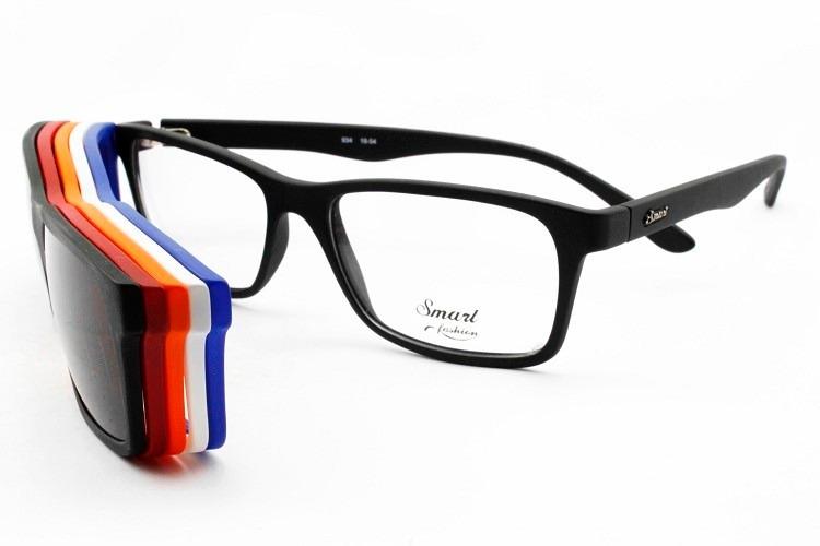 Armação Óculos Clip-on P  Grau Smart Garantia Nota E Brinde - R  249 ... 5e72c465d9