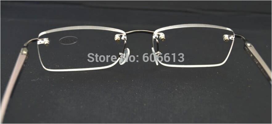 7200677c5c3cd armação óculos com grau para leitura sem aro em alumínio. Carregando zoom.