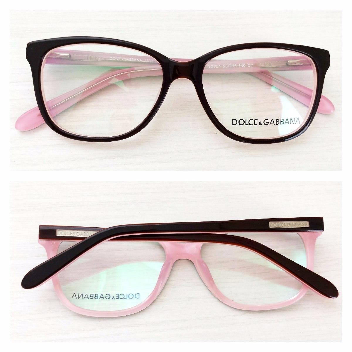 cb999dc18ccbe armação óculos de grau acetato feminino dolce dg751. Carregando zoom.