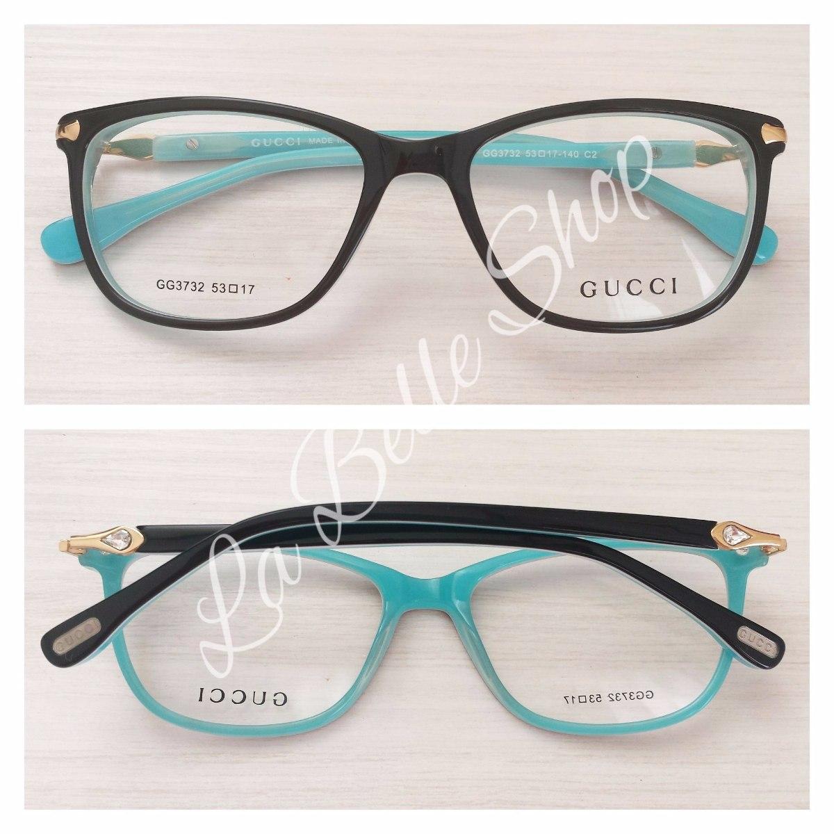 Armação Óculos De Grau Acetato Feminino Gg3732 - R  119,00 em Mercado Livre Armação  Oculos Grau Feminino Importado Dg39 Acetato Original ... ca56f737dc