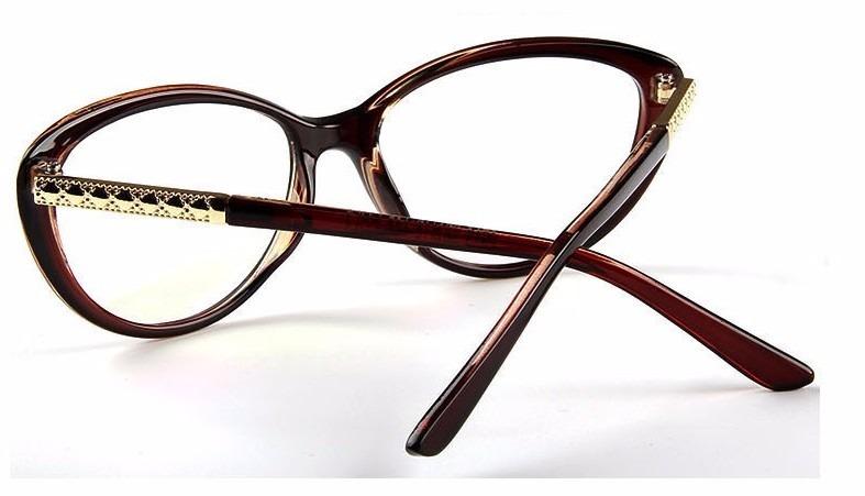 1fcac7afeec25 Armação Óculos De Grau Acetato Gatinho Feminino Tendência Va - R  69 ...