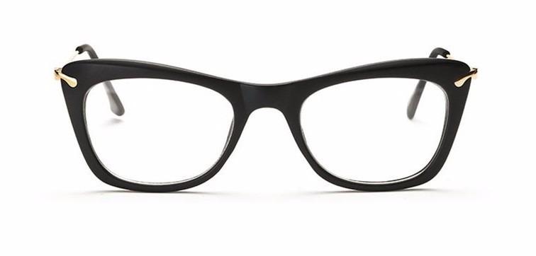 ef9ca93061acb Armação Óculos De Grau Acetato Quadrado Feminino Gatinho Cd - R  29 ...