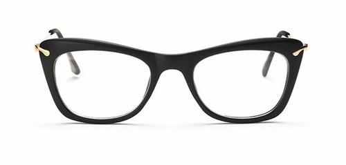 armação óculos de grau acetato quadrado feminino gatinho cd