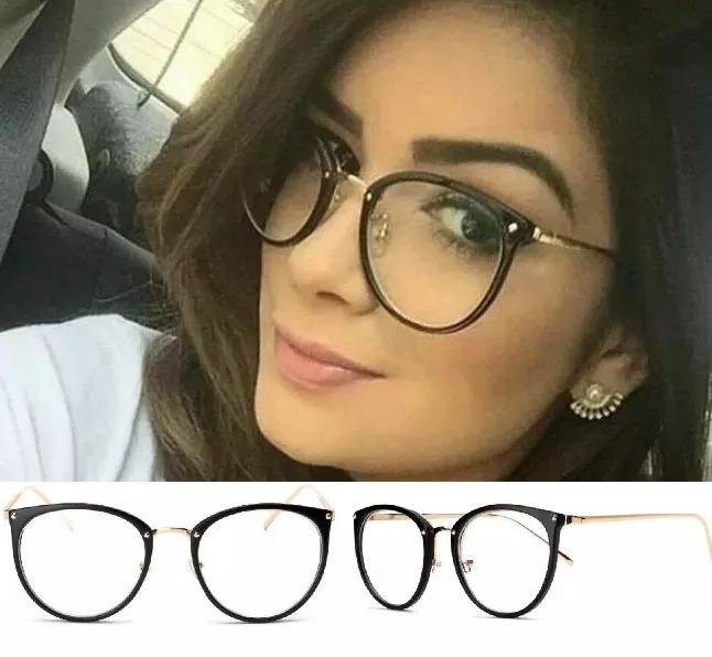 522af5d2c Armação Óculos De Grau Acetato Redondo Masculino Feminina016 - R$ 45,99 em  Mercado Livre