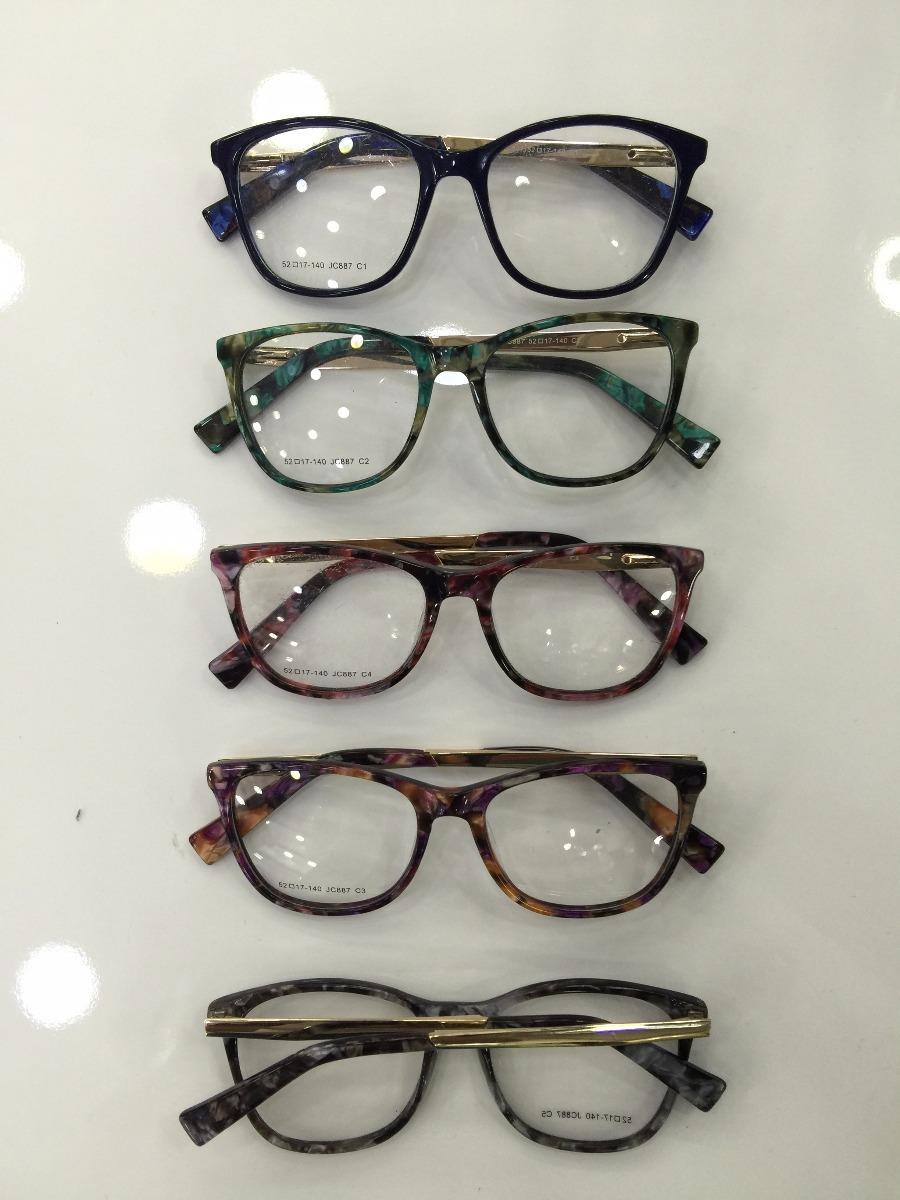 5a325eac86cdf armação óculos de grau acetato várias cores feminina barato. Carregando zoom .